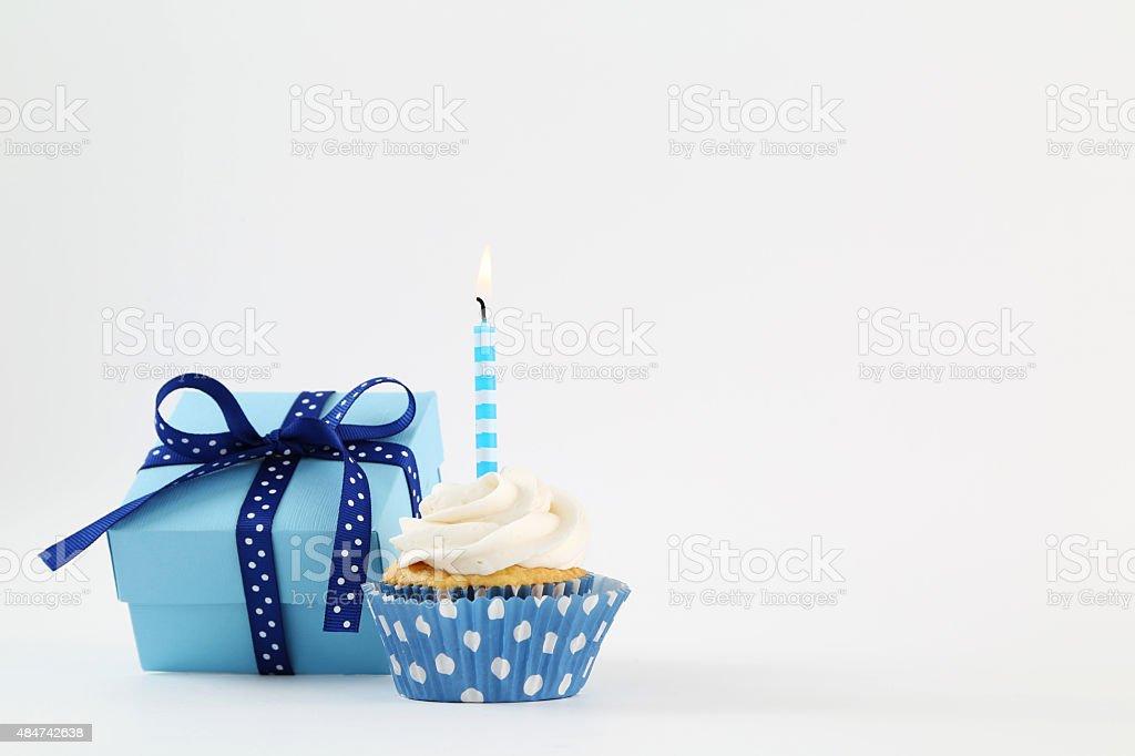 birthday cupcake stock photo