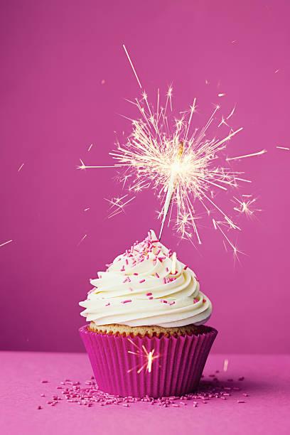 Happy Birthday Cake With Sparklers