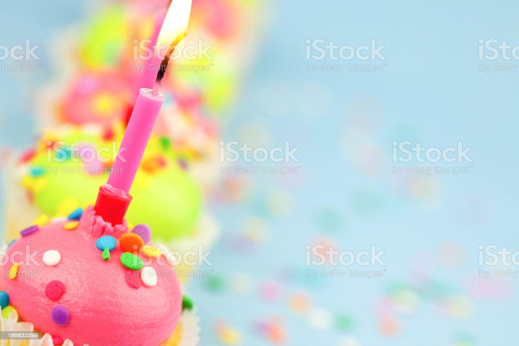 Birthday Cupcakes royalty-free stock photo