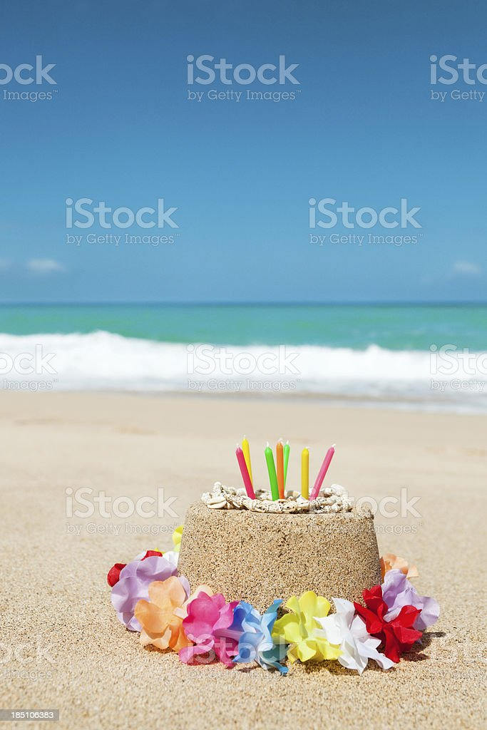 Birthday Gift of Vacationing in Tropical Paradise Beach Vt royalty-free stock photo