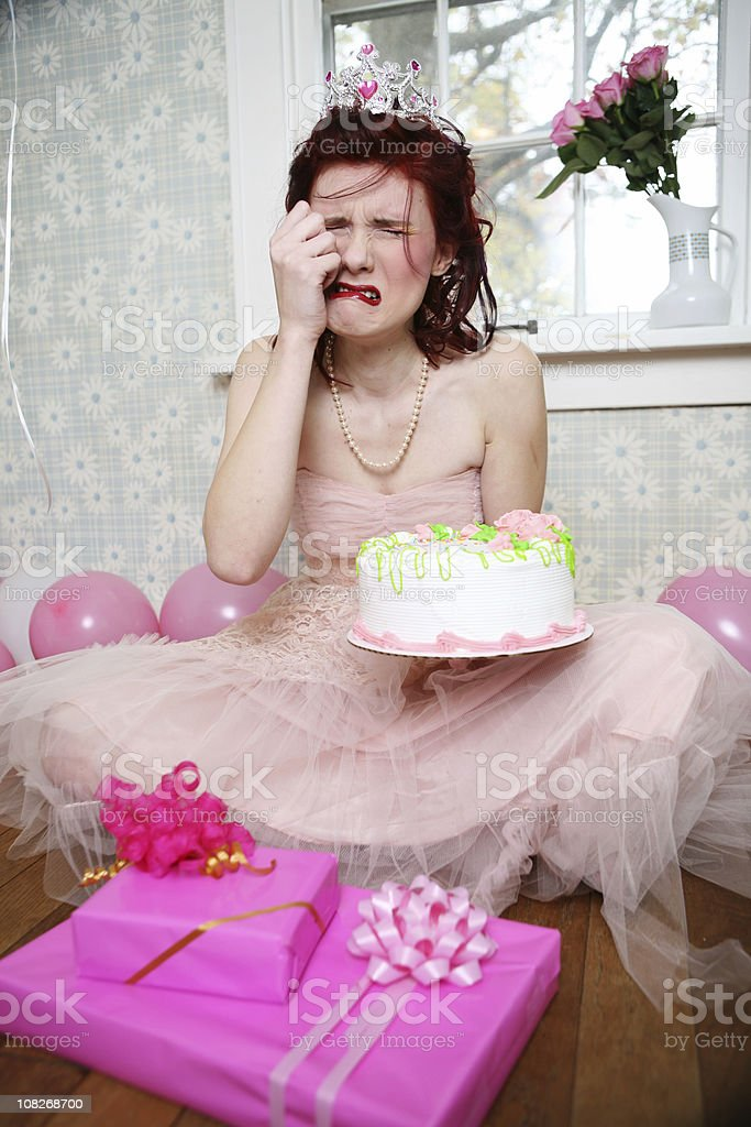 birthday girl drama queen royalty-free stock photo