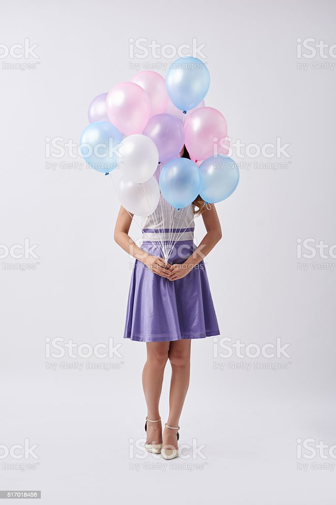 Birthday girl stock photo