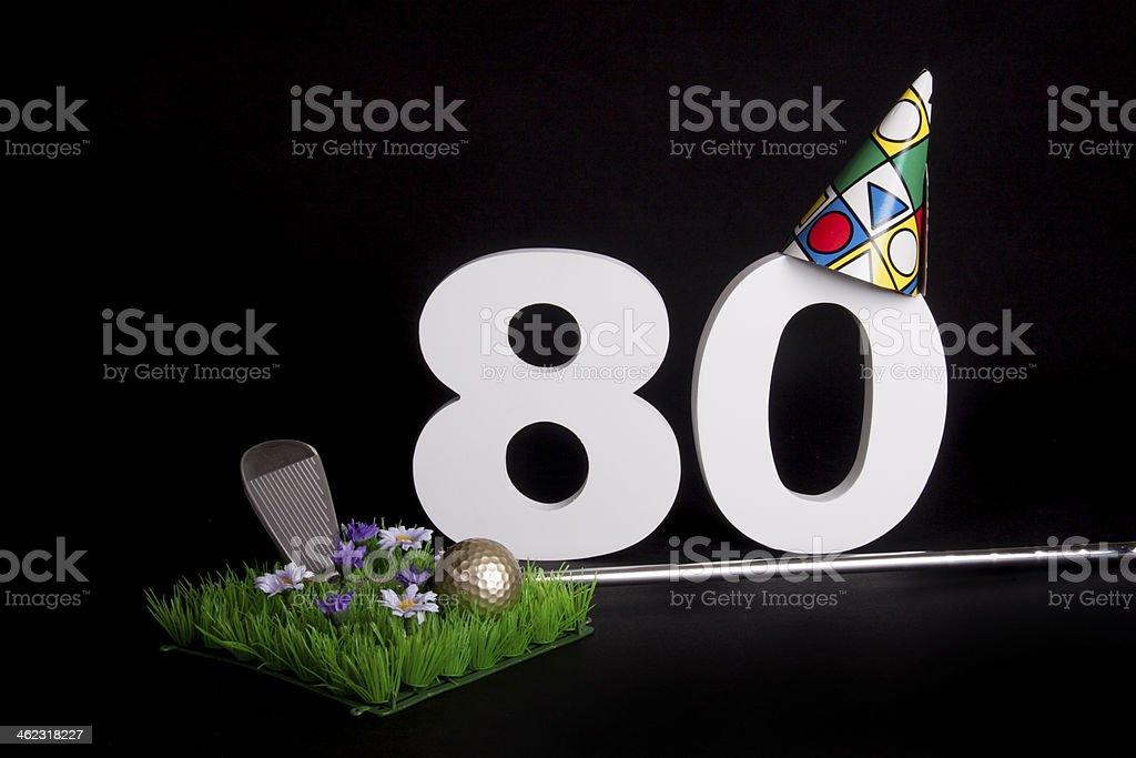 Birthday Golf stock photo