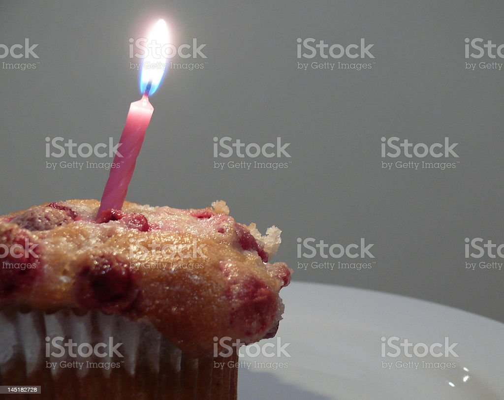 Birthday Muffin royalty-free stock photo