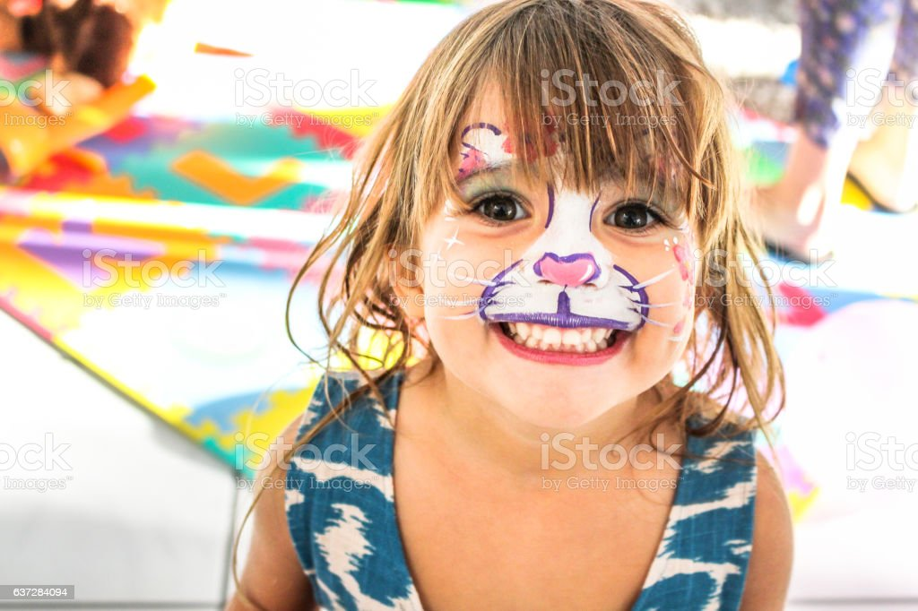 Birthday Party Girl stock photo