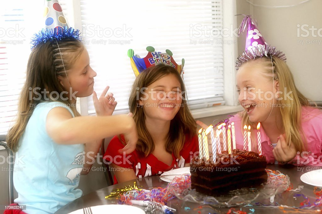 Birthday Party - glow royalty-free stock photo