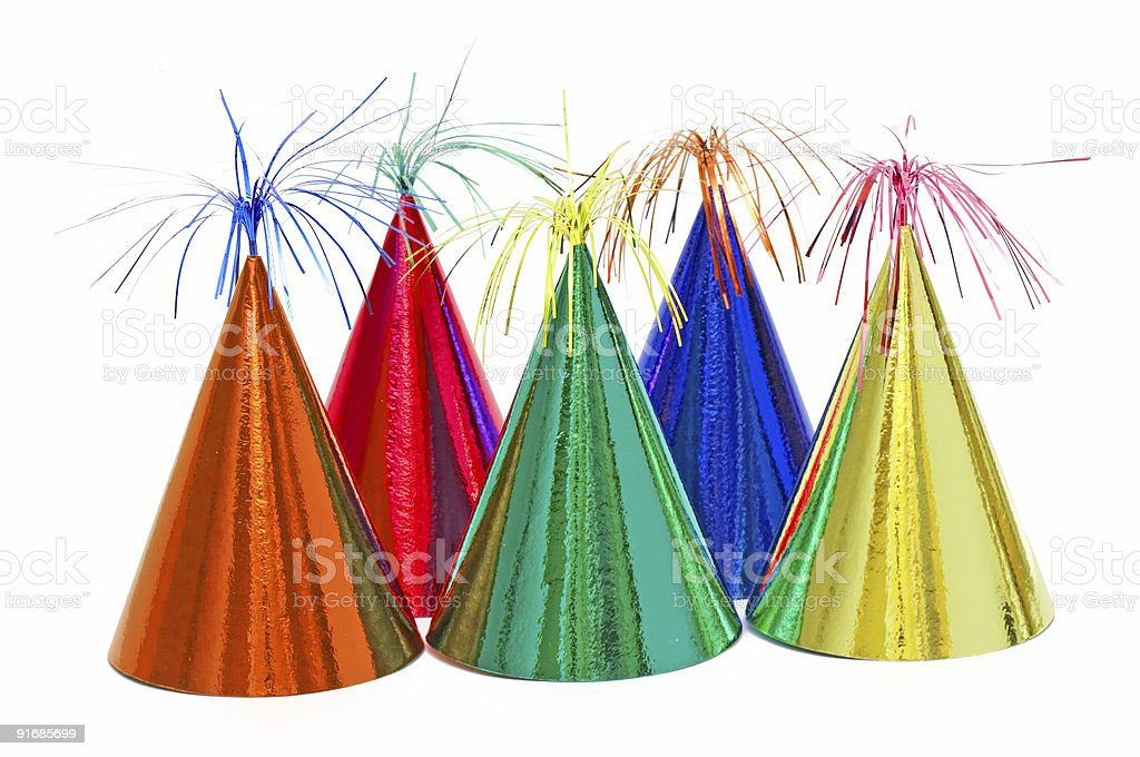 birthday party hats royalty-free stock photo