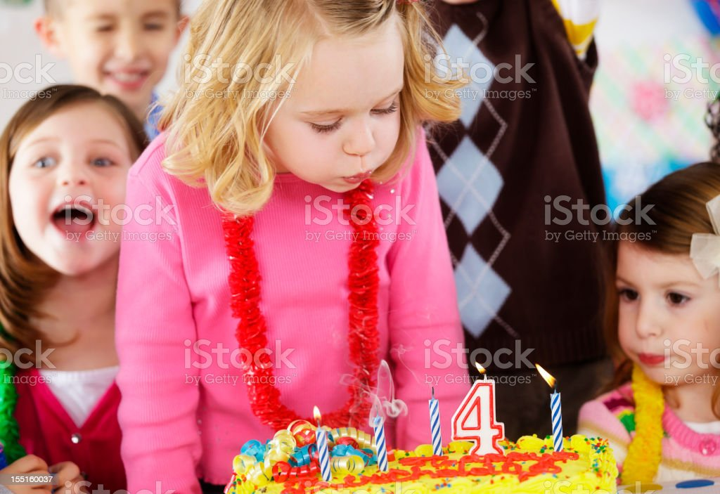 Birthday Party of a Girl royalty-free stock photo