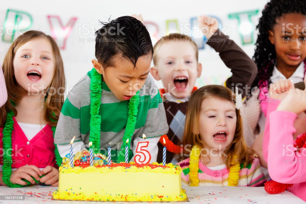 Birthday Party of a Little Boy royalty-free stock photo