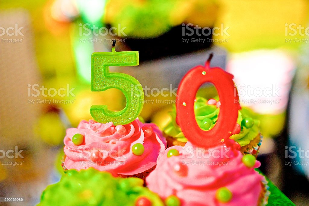 50 Birthday stock photo