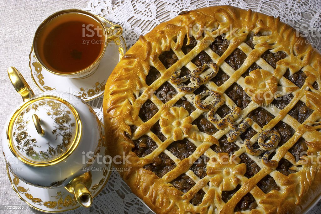 Birthday pie - 2 royalty-free stock photo