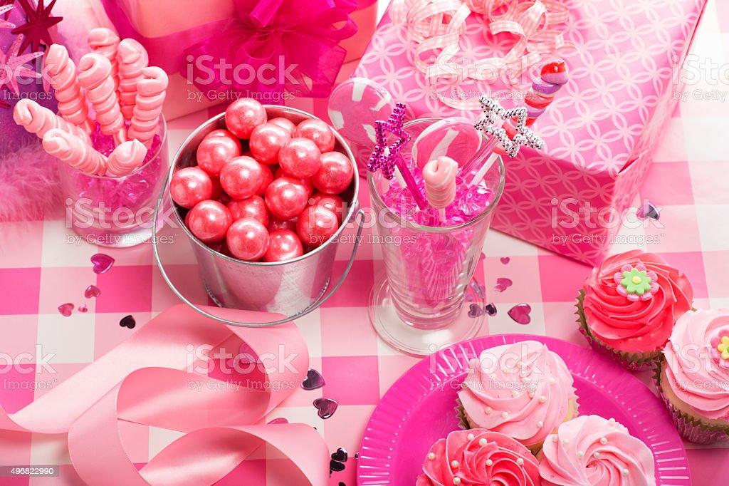 Birthday Pink Princess Party stock photo