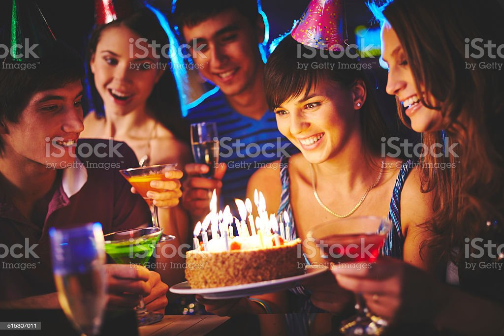 Birthday surprise stock photo