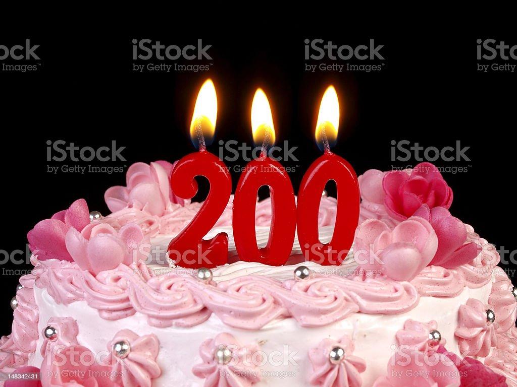 Birthday-anniversary cake Nr. 200 stock photo
