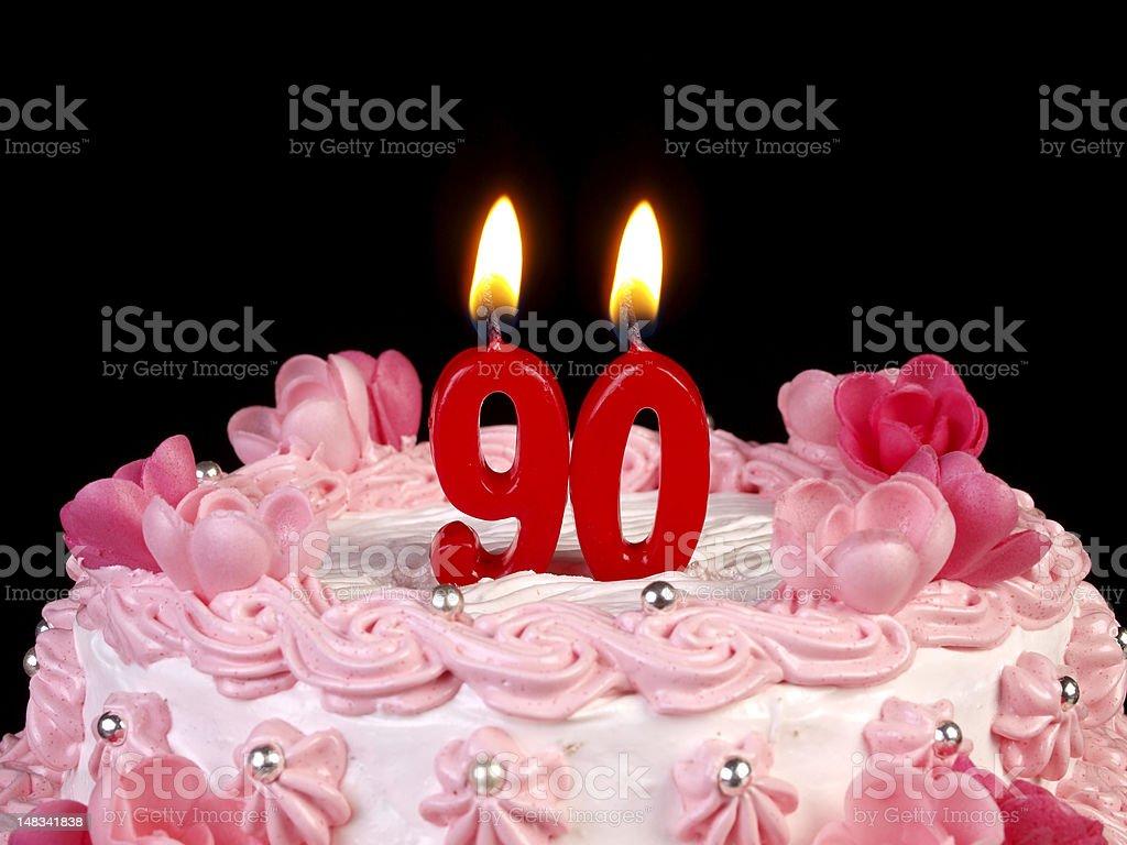 Birthday-anniversary cake Nr. 90 stock photo