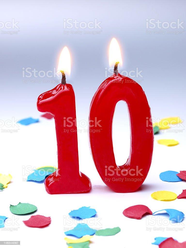 Birthday-anniversary Nr. 10 stock photo