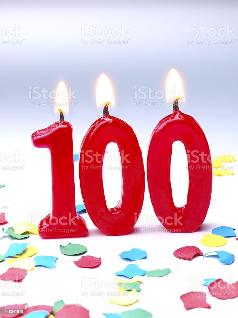 Birthday-anniversary Nr. 100 royalty-free stock photo