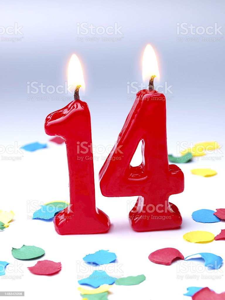 Birthday-anniversary Nr. 14 stock photo