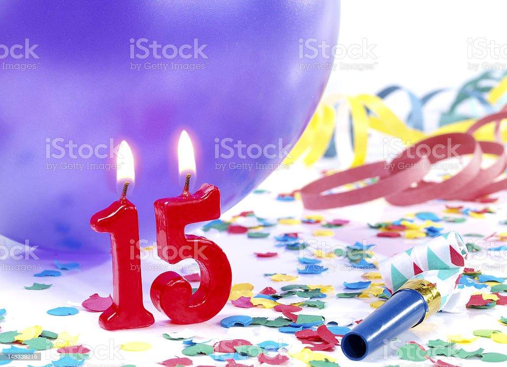 Birthday-anniversary Nr. 15 stock photo
