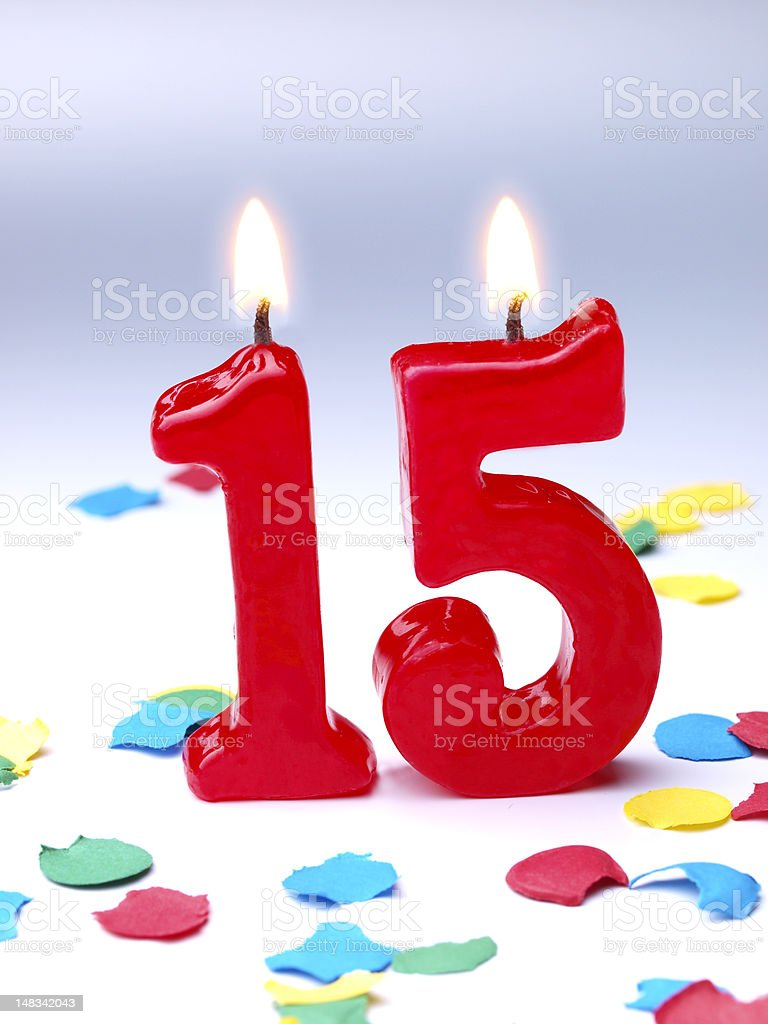 Birthday-anniversary Nr. 15 stock photo