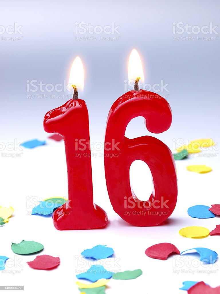 Birthday-anniversary Nr. 16 stock photo