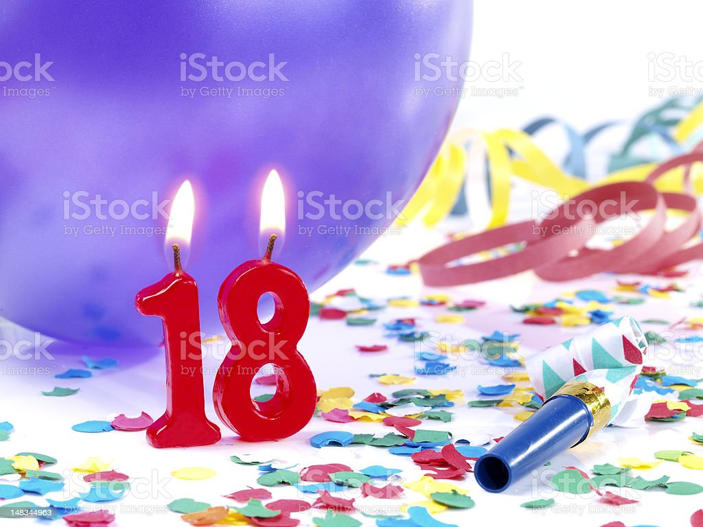 Birthday-anniversary Nr. 18 royalty-free stock photo