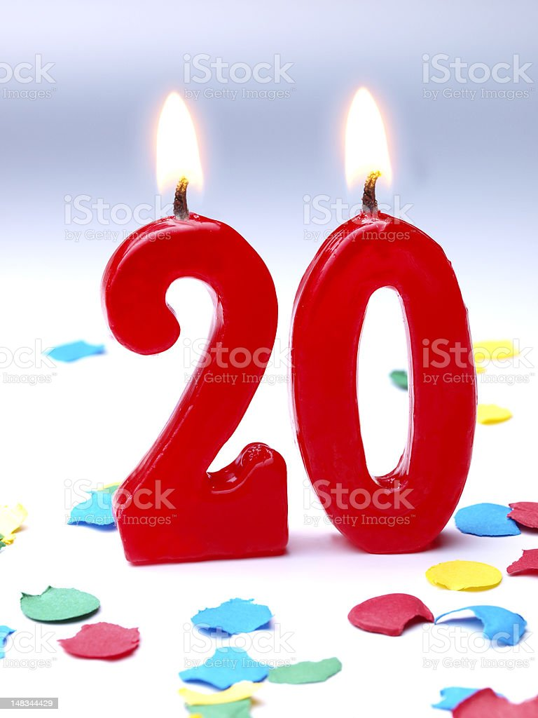 Birthday-anniversary Nr. 20 stock photo