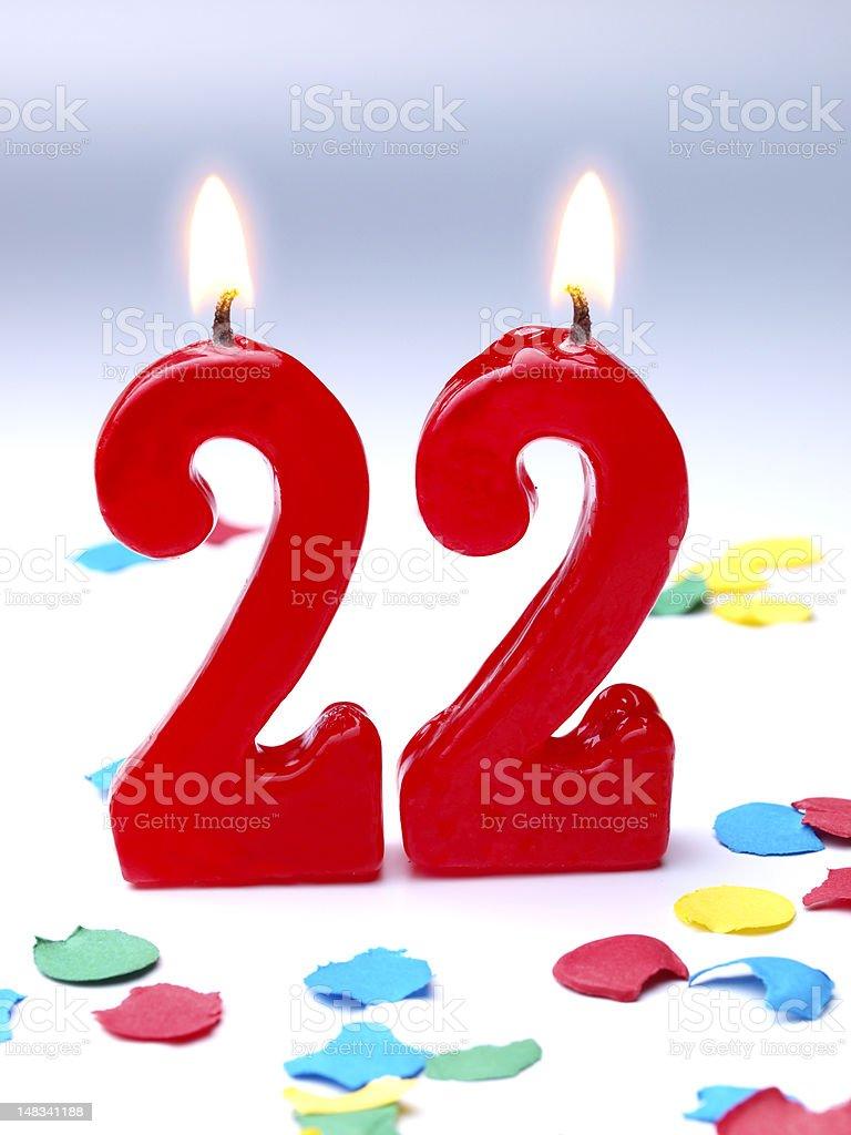 Birthday-anniversary Nr. 22 stock photo