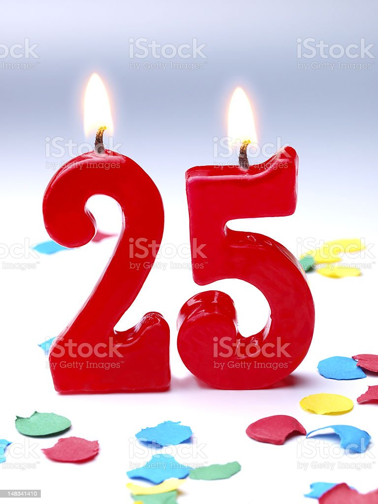 Birthday-anniversary Nr. 25 stock photo