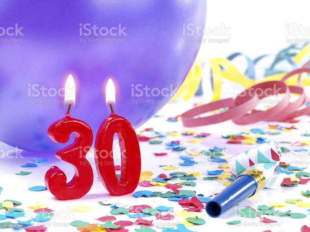 Birthday-anniversary Nr. 30. stock photo