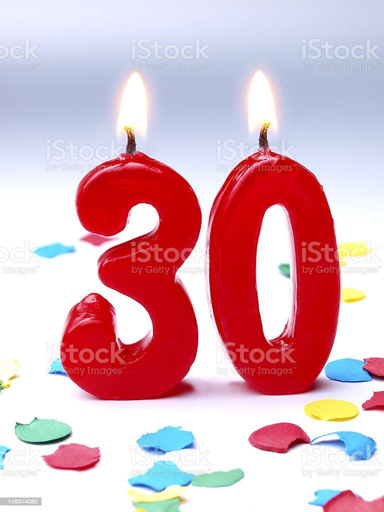 Birthday-anniversary Nr. 30 stock photo