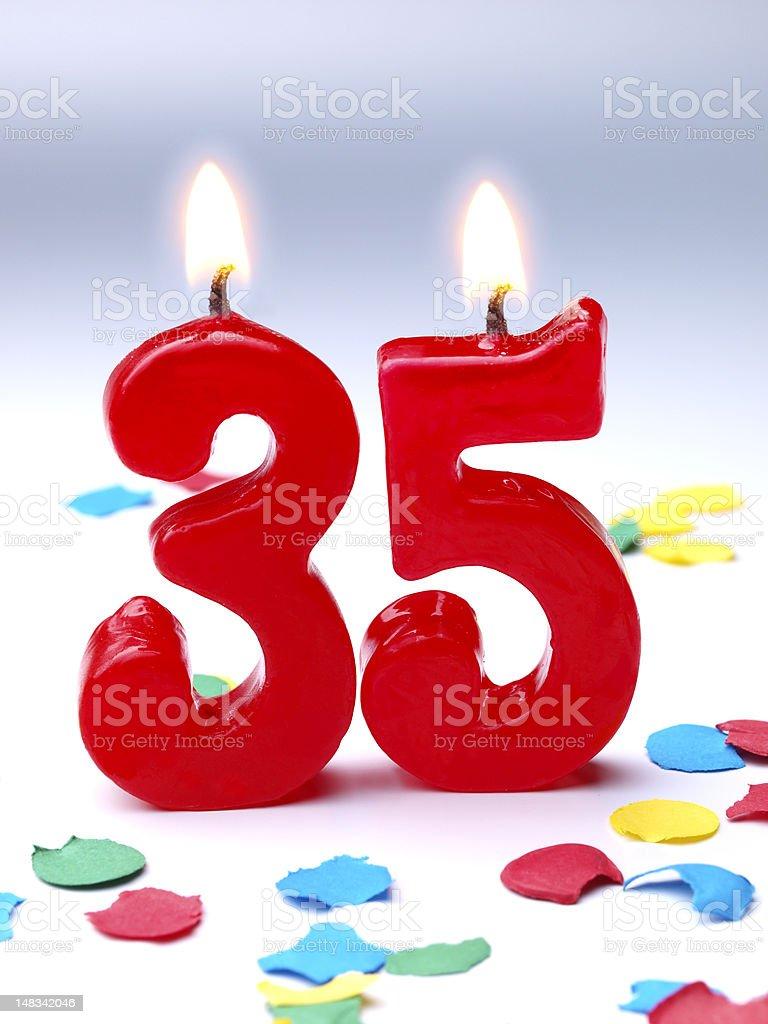 Birthday-anniversary Nr. 35 royalty-free stock photo