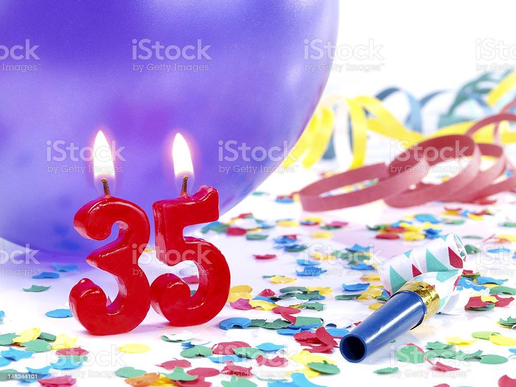 Birthday-anniversary Nr. 35. royalty-free stock photo