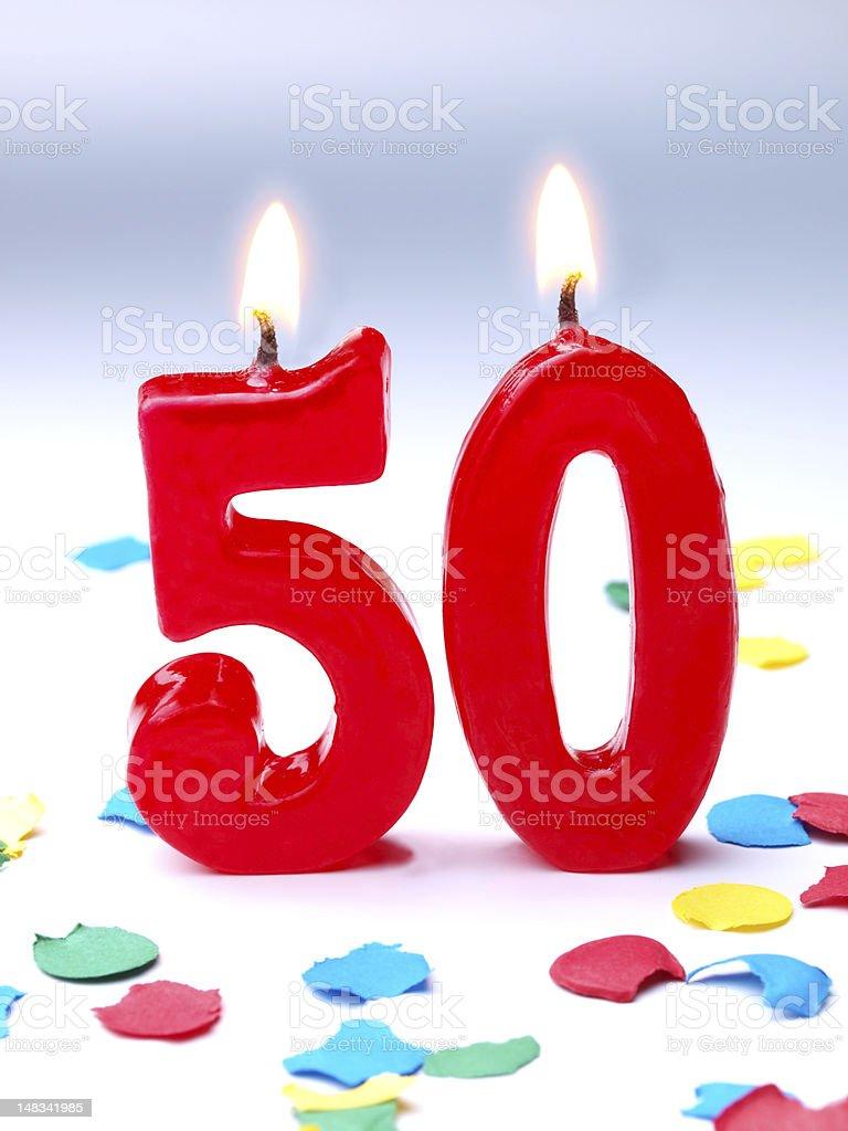 Birthday-anniversary Nr. 50 stock photo