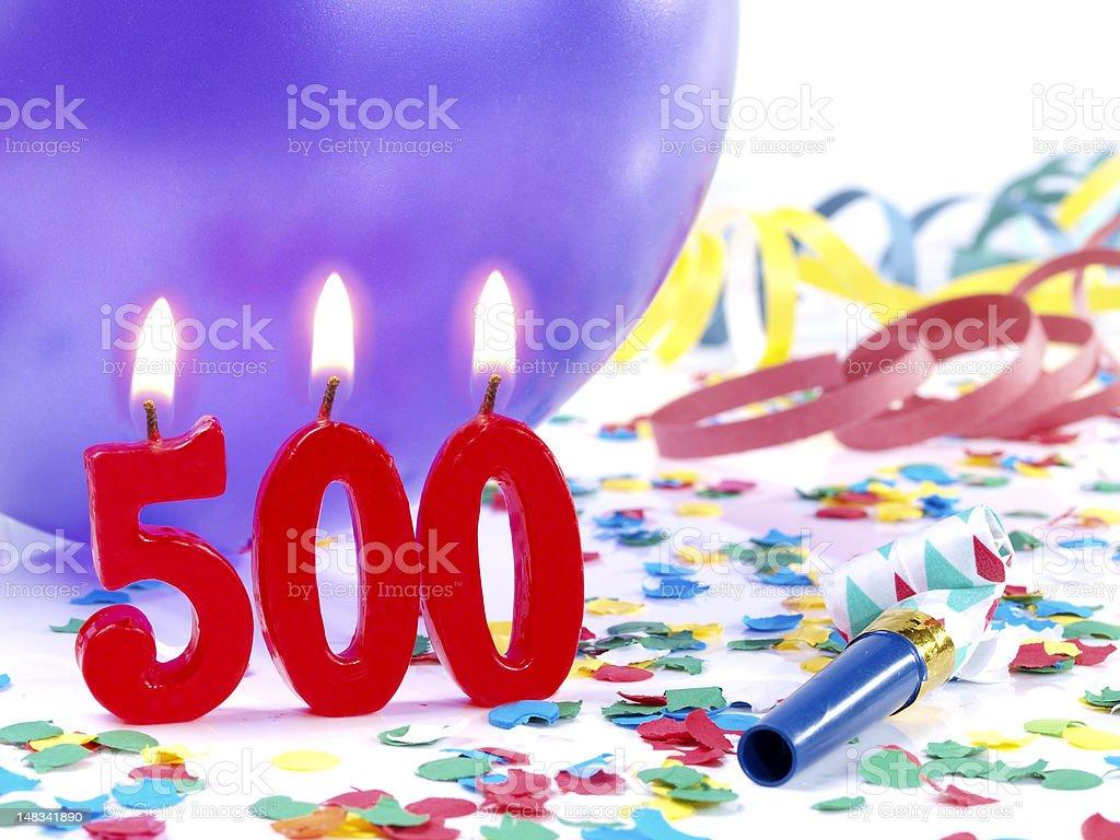 Birthday-anniversary Nr. 500. stock photo
