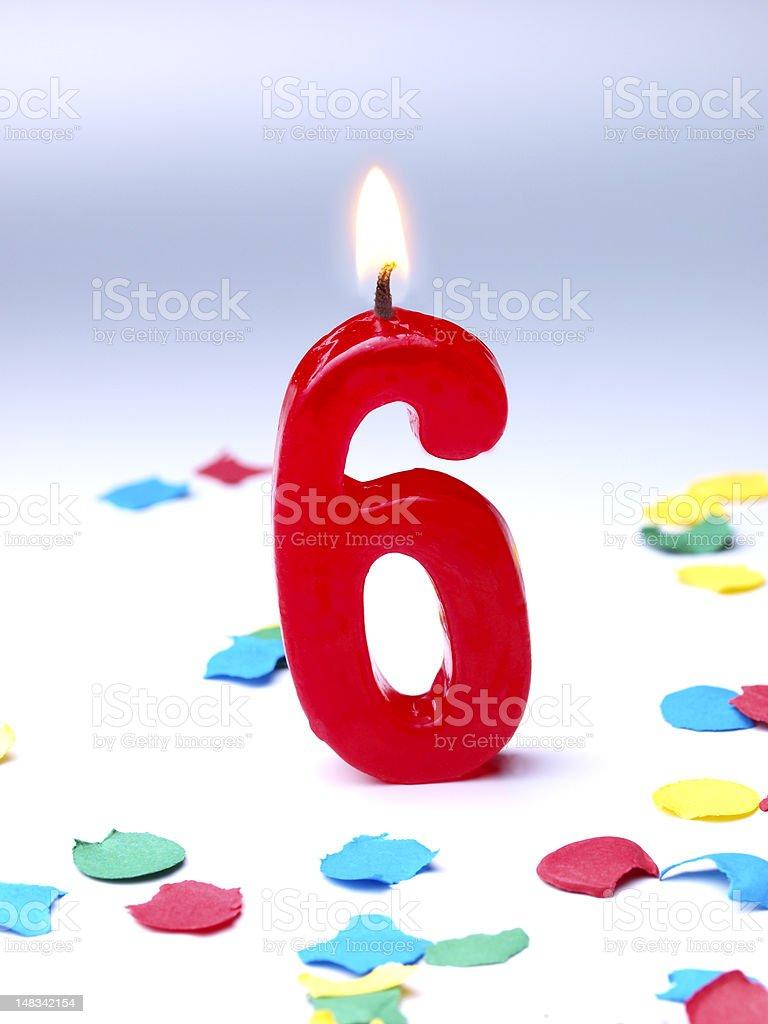 Birthday-anniversary Nr. 6 royalty-free stock photo