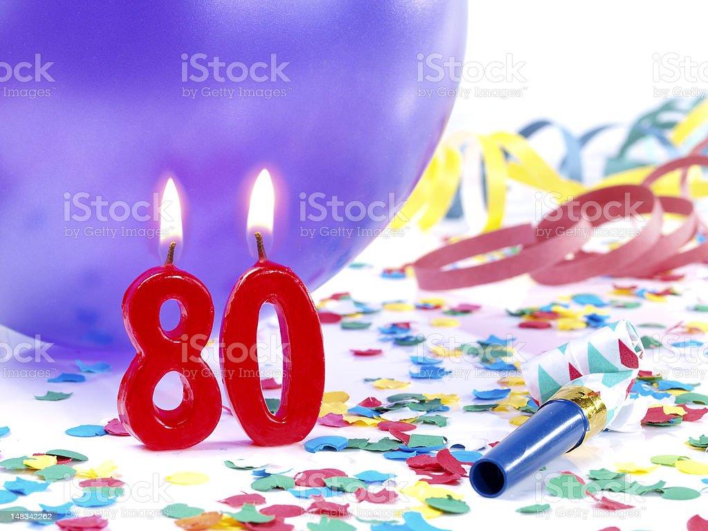 Birthday-anniversary Nr. 80 stock photo