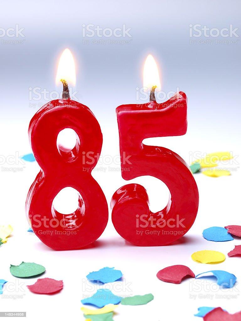 Birthday-anniversary Nr. 85 stock photo