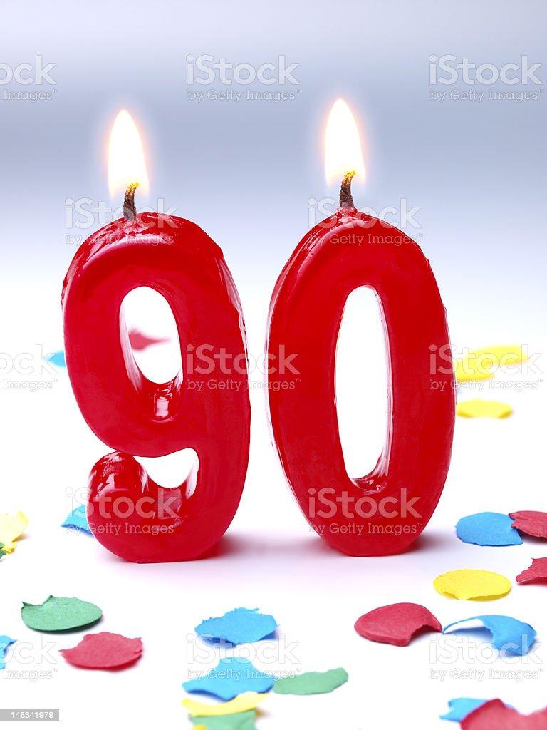 Birthday-anniversary Nr. 90 stock photo