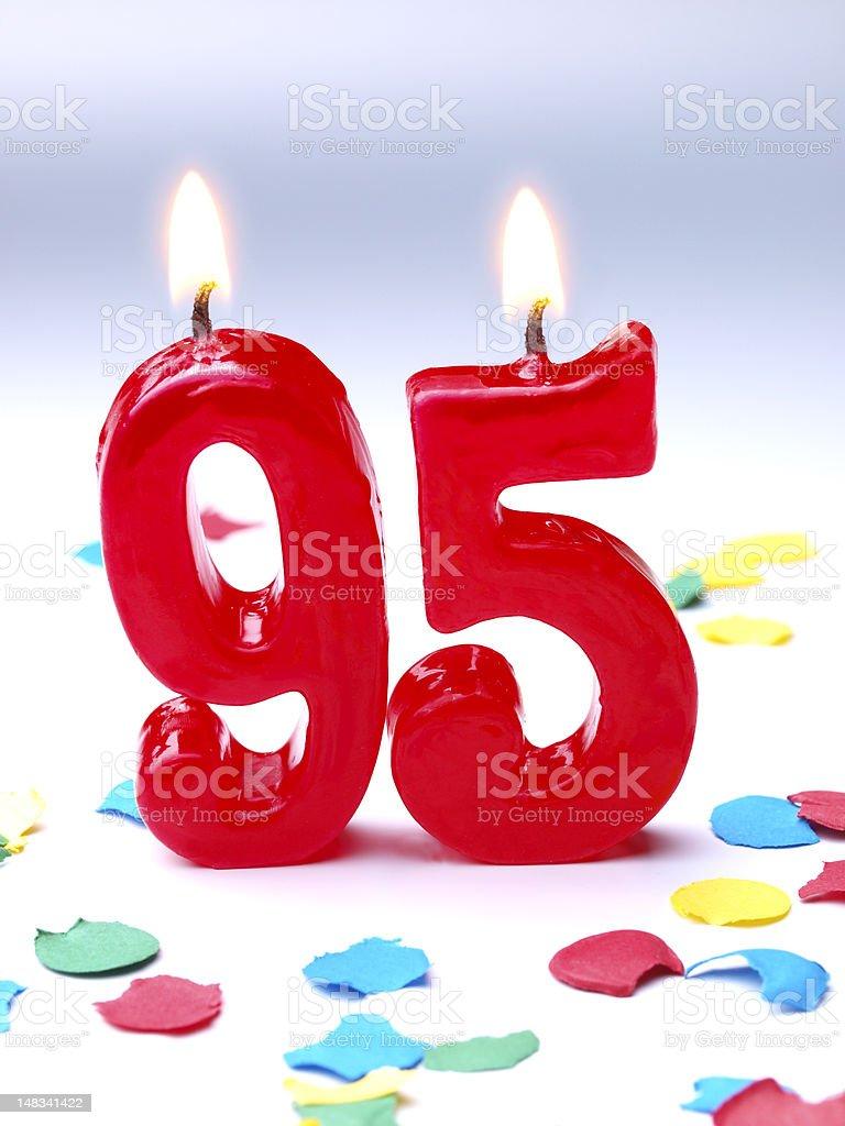 Birthday-anniversary Nr. 95 stock photo