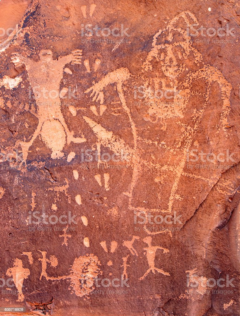 Birthing Petroglyph Utah. stock photo