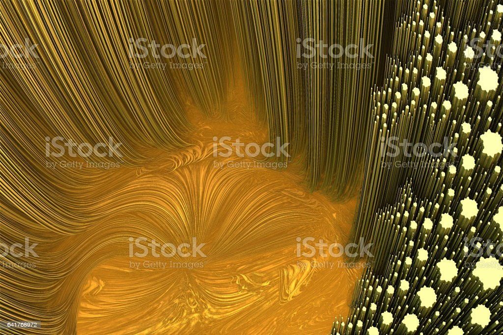 Birthplace for a forest of metal rods fractal image stock photo
