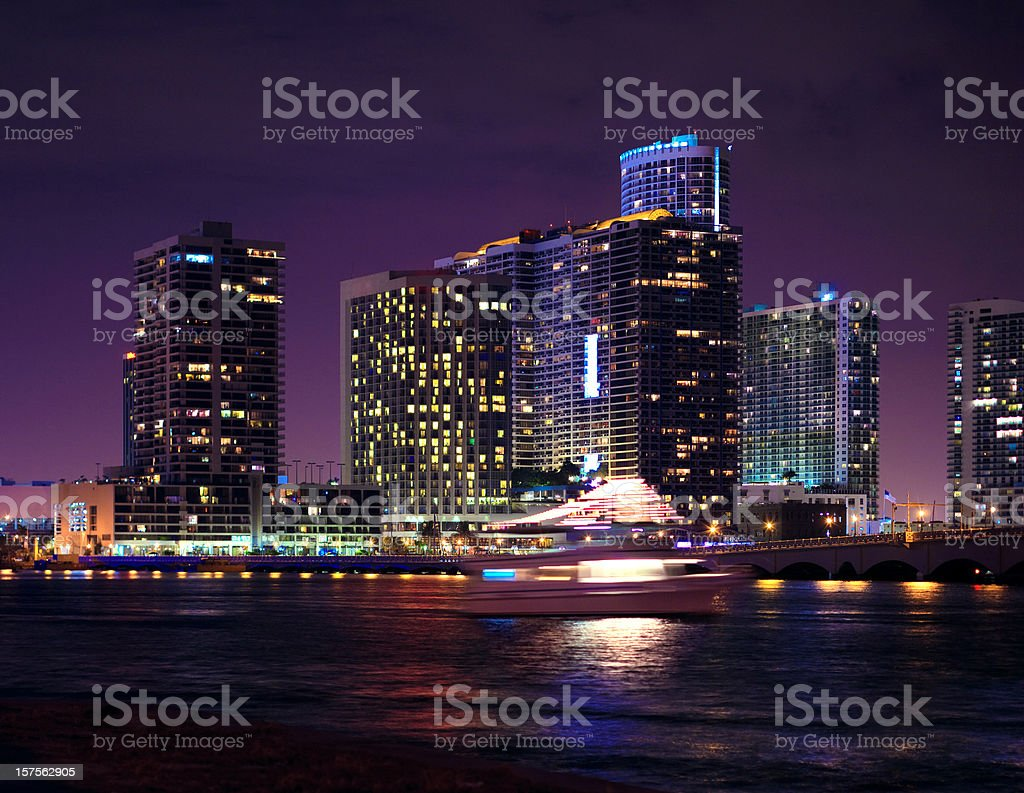 biscayne bay and The Venetian Causeway royalty-free stock photo