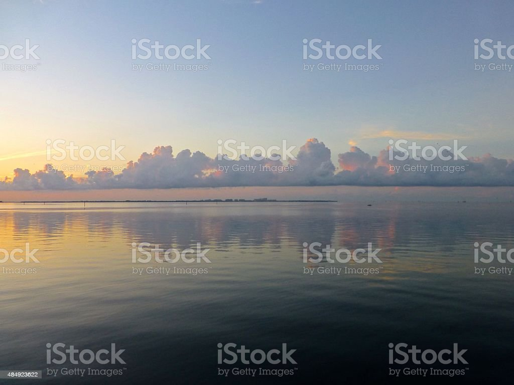 Biscayne bay at dawn stock photo