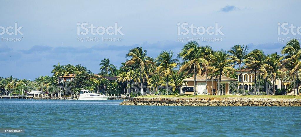 biscayne bay - miami stock photo