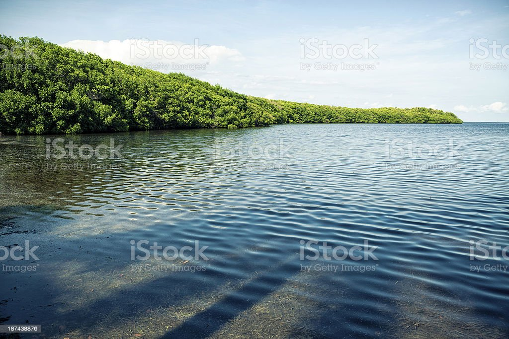 Biscayne Bay, South Florida stock photo