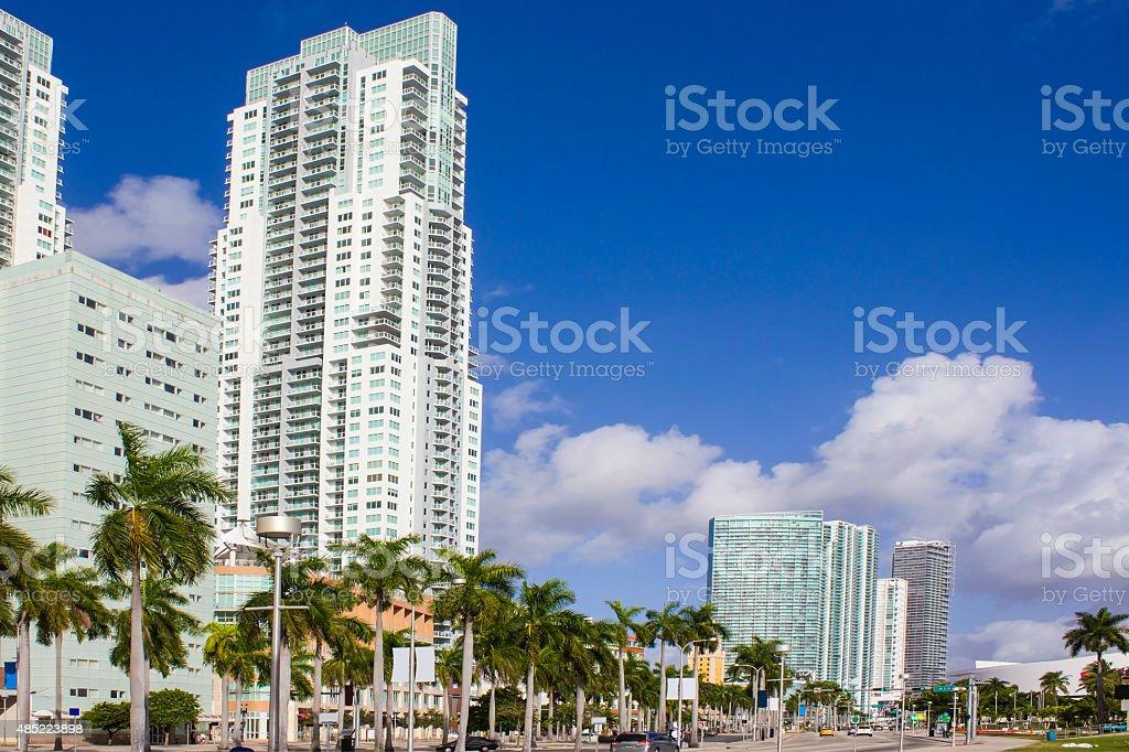 Biscayne Boulevard stock photo