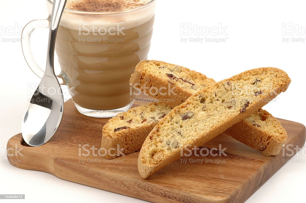 Biscotti Cappuccino Treat royalty-free stock photo