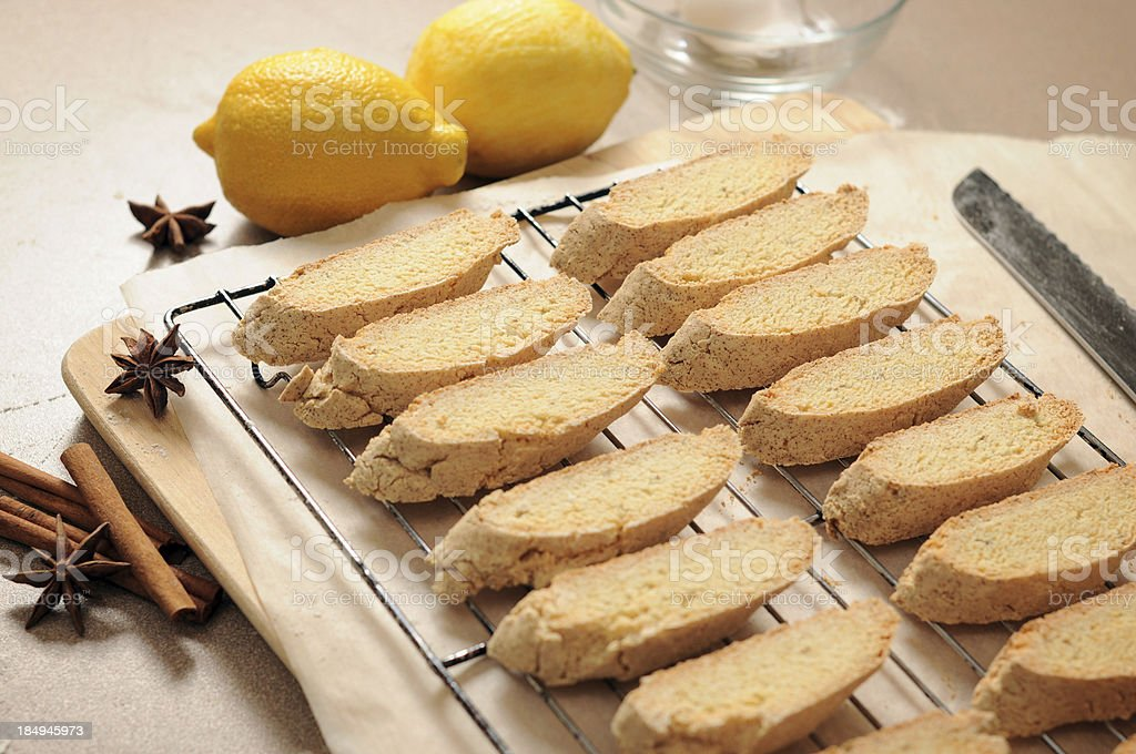 Biscotti, Italian Cookies royalty-free stock photo