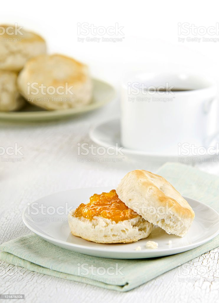 Biscuit and Jam royalty-free stock photo